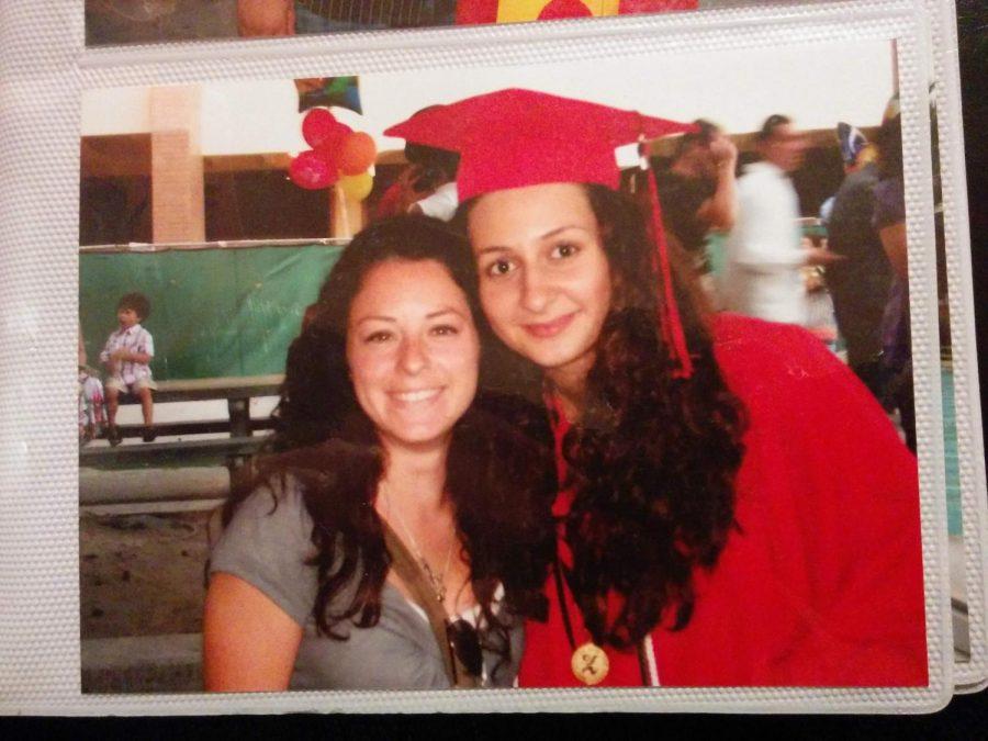 Mrs. Bedrousi poses with her favorite teacher, Mrs. Soris-Masouris, at the 2009 Graduation Ceremony