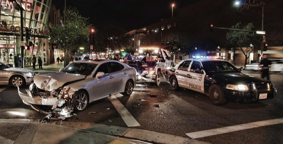 A street racing accident on Brand Blvd.